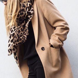 Zara leopard/cheetah/animal print long scarf